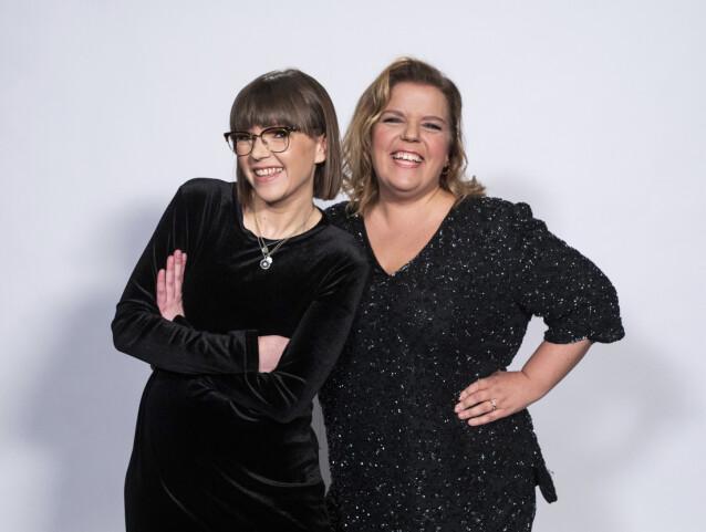 SØSTRE: Her er Cecilie avbildet sammen med storesøster Else. Sammen har de podkasten «The Kåss Furuseths». Foto: TV 2