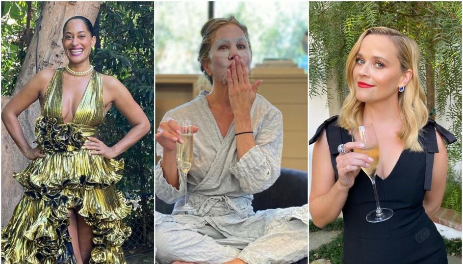 EMMY-UTDELINGEN: Det er ingen hemmelighet at den røde løperen under Emmy Awards ofte er stedet for overdådige antrekk. I år var det imidlertid annerledes. Foto: Skjermdump fra Instagram