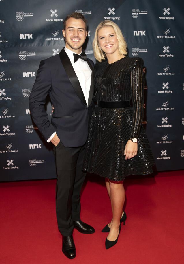 <strong>FORLOVET:</strong> Stian Lauritzen og Tiril Sjåstad Christensen har vært et par i flere år, og skal etter planen gifte seg på sikt. Nå blir de også snart foreldre. Foto: Andreas Fadum / Se og Hør
