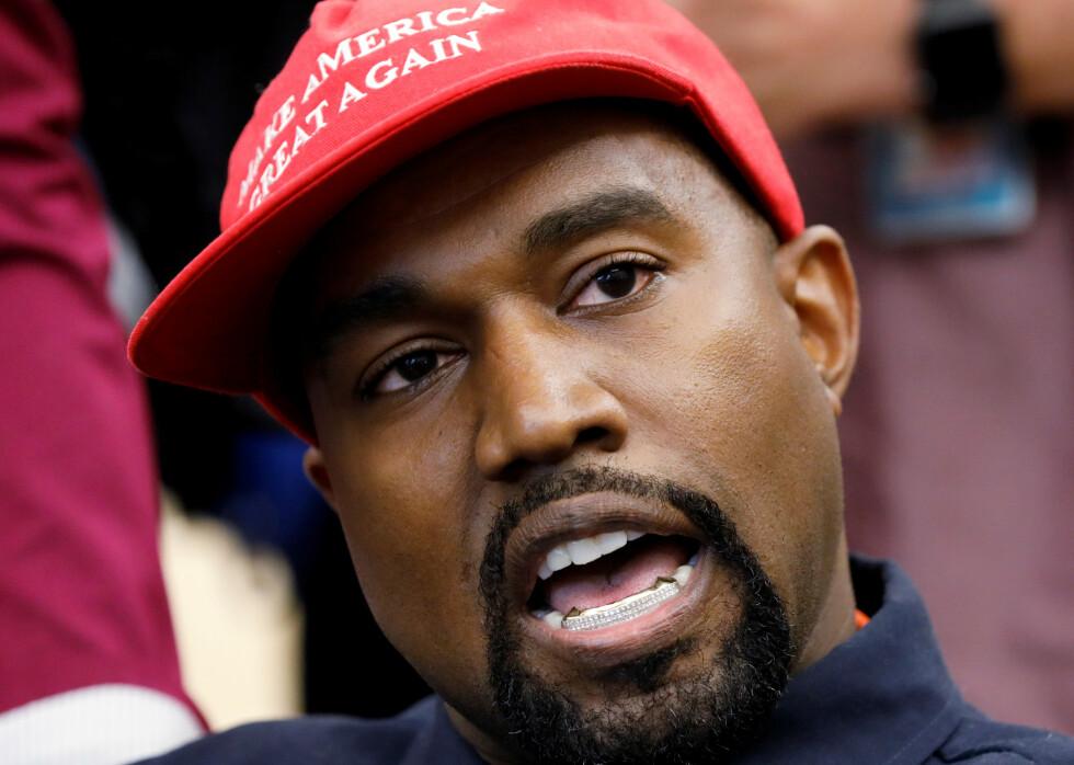 OPPSIKTSVEKKENDE VALGKAMP: Kanye West har flere ganger under valgkampen vakt oppsikt. Her fra 2018. Foto: Kevin Lamrque/Reuters/NTB