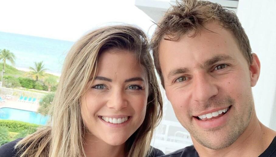 <strong>SLUTT:</strong> Malia White og Tom Checketts, begge kjent fra «Below Deck Mediterranean», har valgt å gå hver til sitt, etter omlag ett år sammen. Foto: Skjermdump Instagram