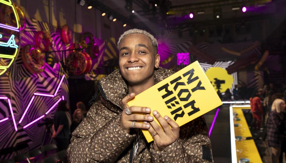 FIKK CORONA: Artisten Isah, her fra P3 Gull i fjor, har fått påvist corona. Foto: Andreas Fadum/Se og Hør