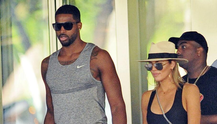 SAMMEN IGJEN?: Det er mer og mer som tyder på at Tristan Thompson og Khloé Kardashian skal ha funnet tilbake til hverandre. Her sammen i 2016. Foto: NTB