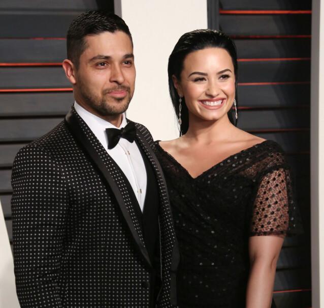 <strong>EKSKJÆRESTER:</strong> Demi Lovato og Wilmer Valderrama gikk i 2016 hver til sitt etter seks år som kjærester. Foto: REX/ NTB