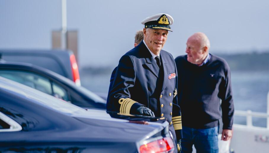 INNLAGT: Kong Harald ble fredag innlagt på Rikshospitalet, som følge av tung pust. Foto: Stian Lysberg Solum / NTB