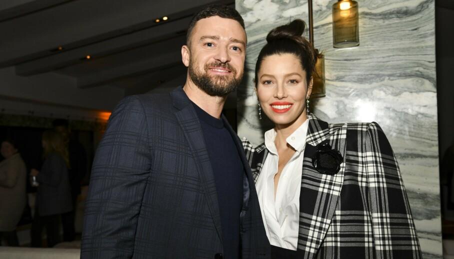 <strong>BABYLYKKE:</strong> Jessica Biel og Justin Timberlake kan juble over å ha fått et nytt tilskudd i familien. Foto: Robin Eckenroth/ Getty Images/ AFP/ NTB