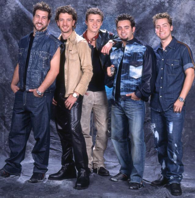 <strong>SAMLET:</strong> Her er NSYNC-medlemmene fotografert sammen i 2001. Fra venstre: Joey Fatone, JC Chasez, Justin Timberlake, Chris Kirkpatrick og Lance Bass. Foto: Larry Marano/ REX/ NTB