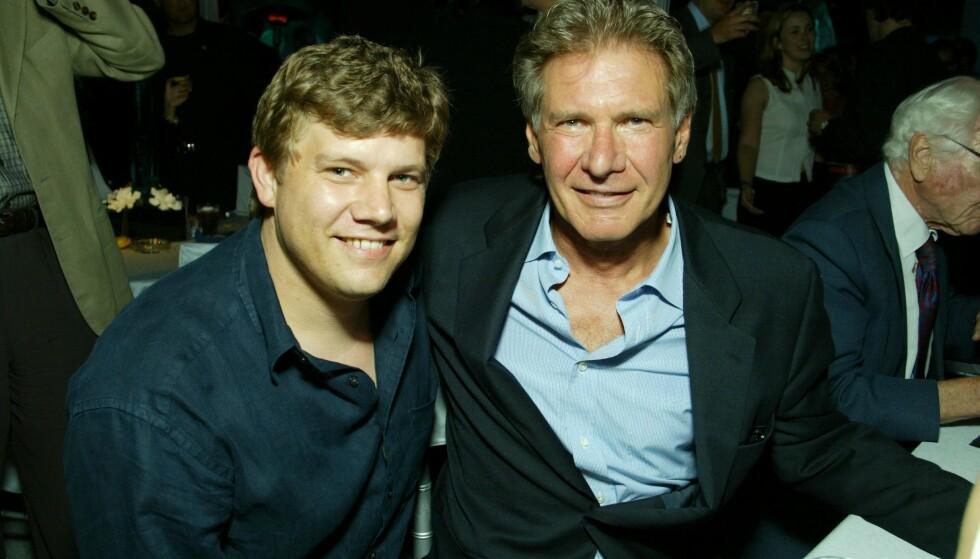 <strong>FAMILIE:</strong> Ben Ford er sønn av skuespilleren Harrison Ford. Ben eier en restaurant i Los Angeles, og arbeider som sjefskokk. Her er far og sønn på verdenspremieren av «K-19». Foto: Eric Charbonneau Berliner Studio/BEImages/NTB