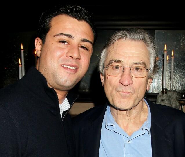 <strong>DE NIRO:</strong> Ralph De Niro har unngått det sterkeste rampelyset, og jobber med eiendomsmegling. Her er han avbildet med skuespillerfaren Robert De Niro i 2013. Foto: Dave Allocca/ Starpix/ REX/ NTB
