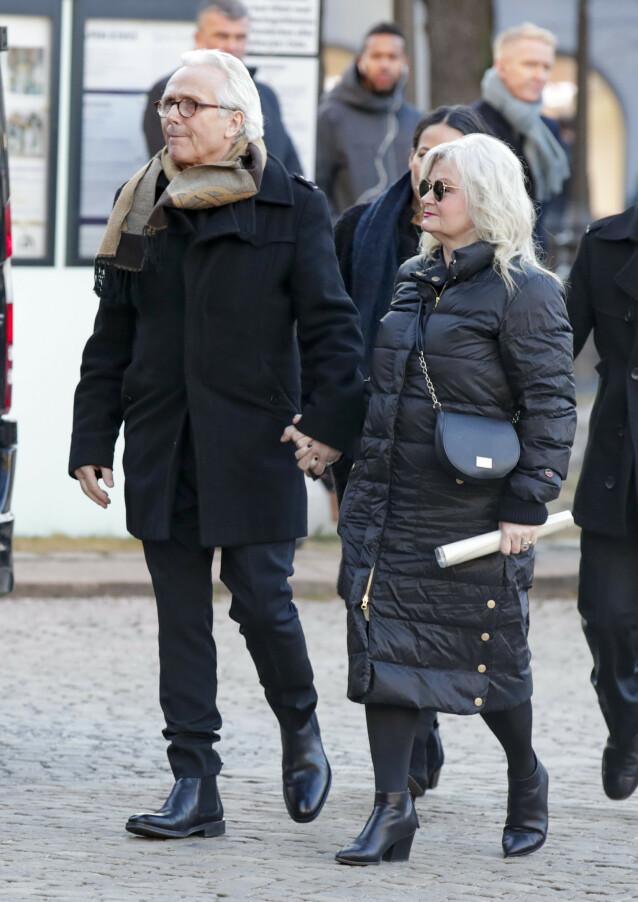 PREGET: Ari Behns foreldre på vei inn i sønnens bisettelse i begynnelsen av januar. Foto: Vidar Ruud / NTB