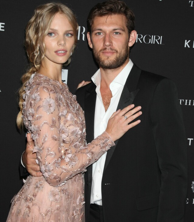 <strong>DATET:</strong> Alex Pettyfer og Marloes Horst i 2015. Foto: Gregory Pace/REX/NTB