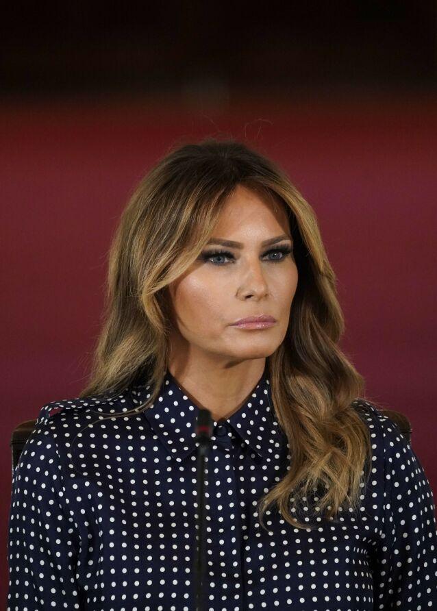 HARDT UT: Melania Trump skal ha vært alt annet enn fornøyd med at Stormy Daniels ble omtalt i Vogue for to år siden. Foto: Drew Angerer/Getty Images/AFP, NTB