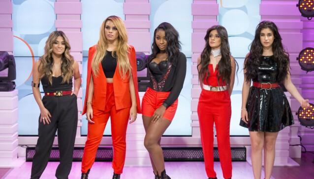 SENSASJON: Gruppa Fifth Harmony gjorde det stort fram til prosjektet ble lagt på is i 2018. Her er alle de originale medlemmene fotografert sammen i 2015. Foto: S Meddle/ITV/REX, NTB