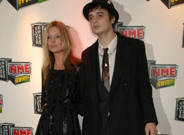 2007: Her er Kate Moss og Pete Doherty avbildet NME Awards i 2007. Foto: Richard Young / Rex / NTB