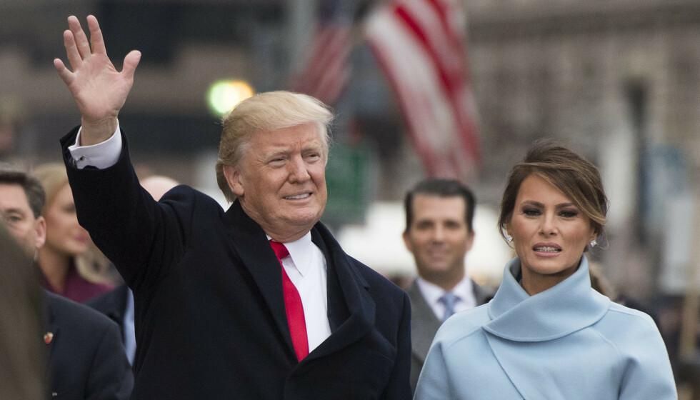 TRØBBEL I PARADIS?: Dersom Donald Trump taper presidentvalget denne uken, mister han kanskje ikke bare presidentposten, men også kona Melania Trump. Foto: REX/NTB
