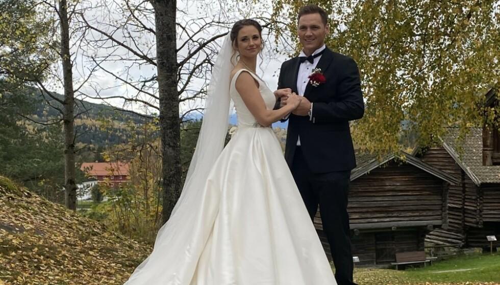 <strong>GIFT:</strong> I går giftet håndballstjernen Joakim Hykkerud seg med Camilla Groth. Foto: Privat