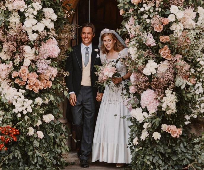 GIFTET SEG: Prinsesse Beatrice giftet seg i juli. Foto: Benjamin Wheeler/ Reuters/ NTB