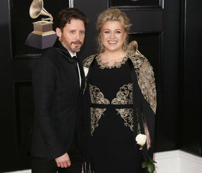 LANGT FORHOLD: Brandon Blackstock og Kelly Clarkson var et par i en årrekke før lykken brast. Foto: NTB
