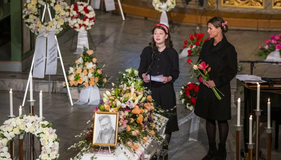 <strong>HYLLES:</strong> Kong Harald mener han ikke hadde klart å holde talen Maud Angelica holdt for sin far i Oslo domkirke. Foto: Håkon Mosvold Larsen / NTB