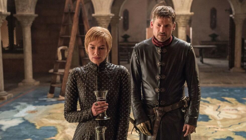 <strong>SØSKENKJÆRLIGHET:</strong> Tvillingene Cercei og Jaime Lannsiter, spilt av Lena Headey og Nikolaj Coster-Waldau, var både elskere og søsken. Foto: HBO/NTB