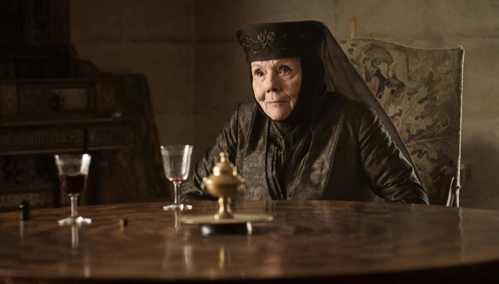 <strong>IKON:</strong> Diana Rigg ble hyllet for sine mange sterke kvinneroller. Her som Olenna Tyrrell i «Game of Thrones». Foto: HBO/NTB