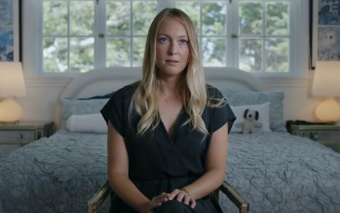<strong>ÅPNER OPP:</strong> India Oxenberg forteller for første gang sin historie i en ny dokumentar som sexkulten NXIVM. Foto: Skjermdump/Starz