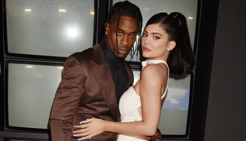SKAPER FORVIRRING: Et nytt bilde av Travis Scott og Kylie Jenner vekker reaksjoner hos fansen. Foto: Broadimage/ Shutterstock/ NTB