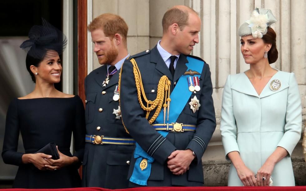 KJØLIG: Forholdet mellom de to hertugparene skal ha kjølnet gradvis fra Meghan kom inn i kongehuset. Nå avsløres nok en ting som skal ha fått William og Kate til å rynke på nesen overfor Meghan og Harry. Foto: Reuters/ Chris Radburn/ NTB