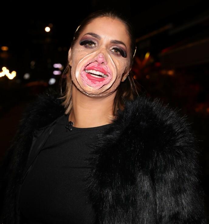 FITTETRYNE: I fjor sto trolig influenseren Iselin Guttormsen for det mest kreative kostymet under Alexandra Joners halloween-fest. Foto: Andreas Fadum / Se og Hør