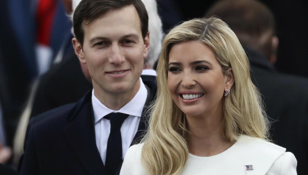 STOR DAG: Ivanka og ektemannen Jared Kushner under innsettelsen av president Donald Trump i januar 2017. Foto: REUTERS/Carlos Barria, NTB