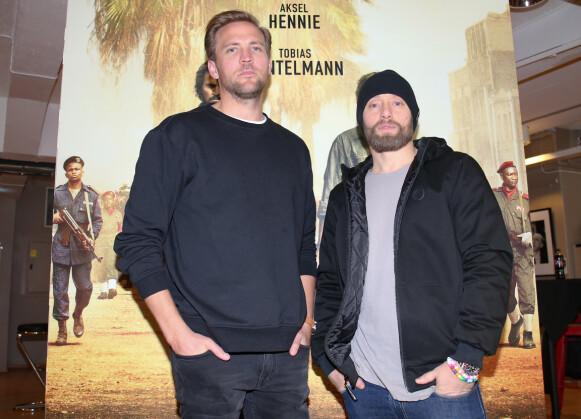 KOLLEGER: I filmen «Mordene i Kongo» var det Aksel Hennie og Tobias Santelmann som hadde hovedrollene. Foto: Fredrik Hagen / NTB