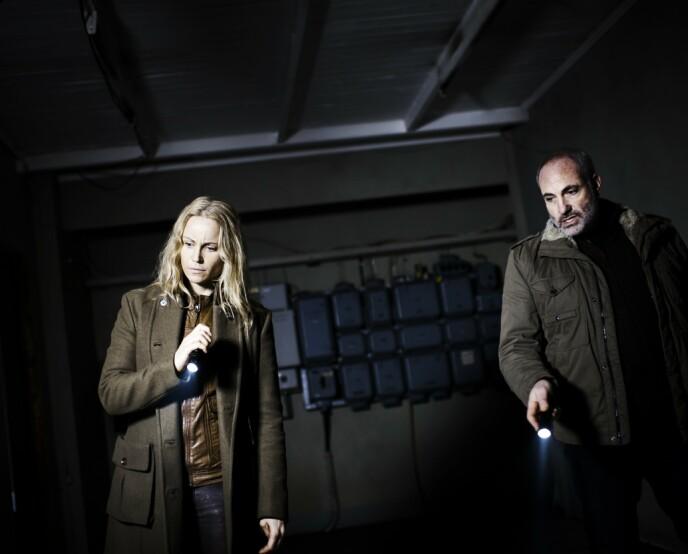 DEN GANG DA: Helin er kanskje best kjent som Sagan Norén i «Broen», der hun spilte mot Kim Bodnia i flere sesonger. Foto: AFP PHOTO/ Scanpix Denmark / JEPPE BJOERN VEJLOE, NTB