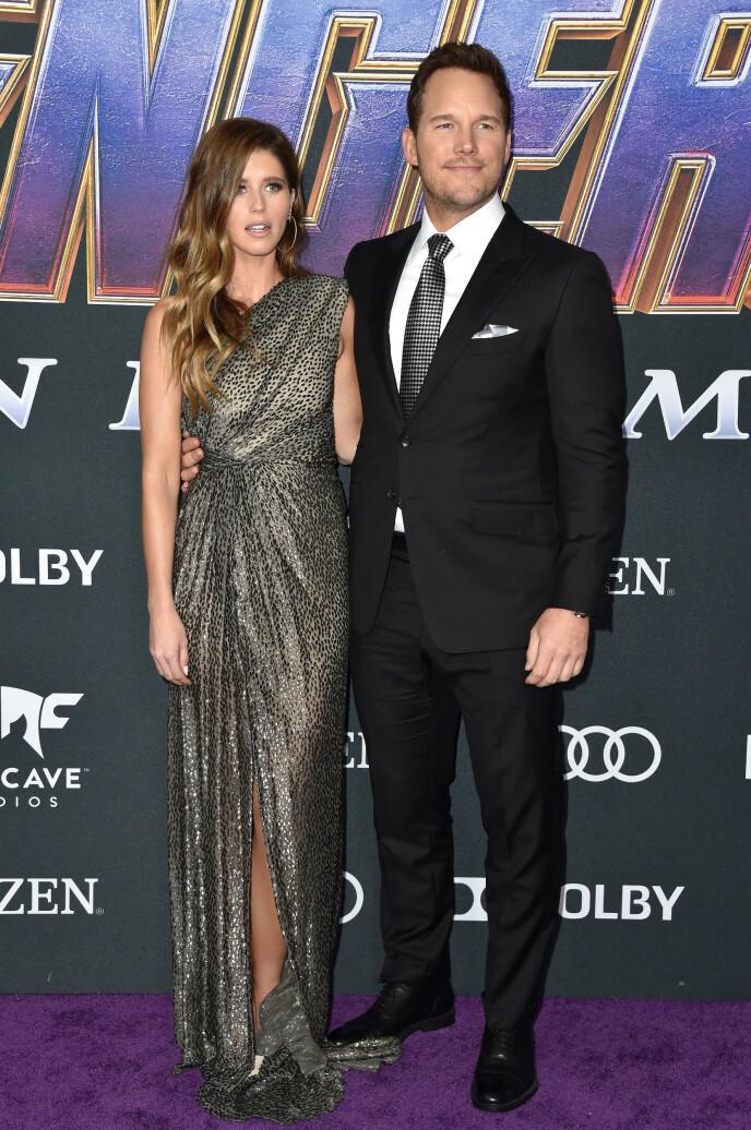 GIFT: Chris Pratt er gift med Katherine Schwarzenegger, dattera til Arnold Schwarzenegger. Paret giftet seg i fjor, og har ett barn sammen. I tillegg har Pratt en sønn fra et tidligere forhold. Foto: Lionel Hahn / ABACAPRESS, NTB
