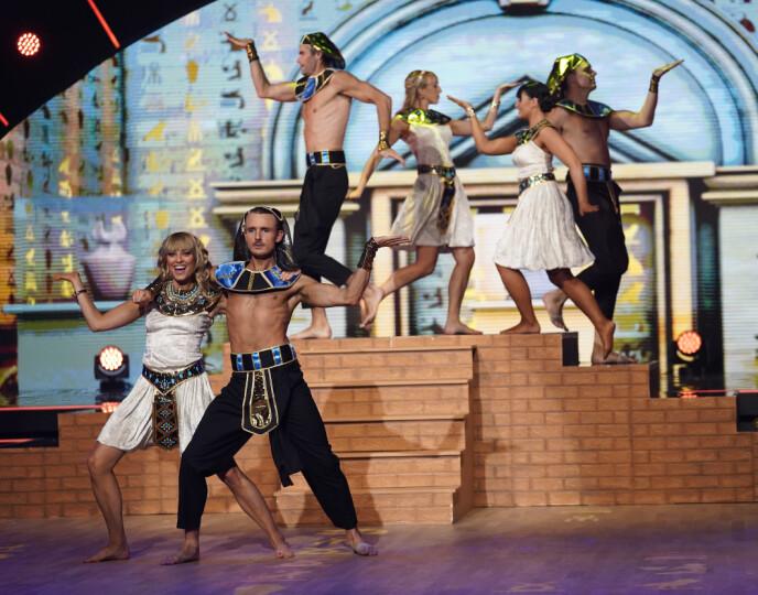 FARAOENS TID: Denne gjengen danset en Egypt-inspirert dans. Foto: Espen Solli / TV 2, NTB