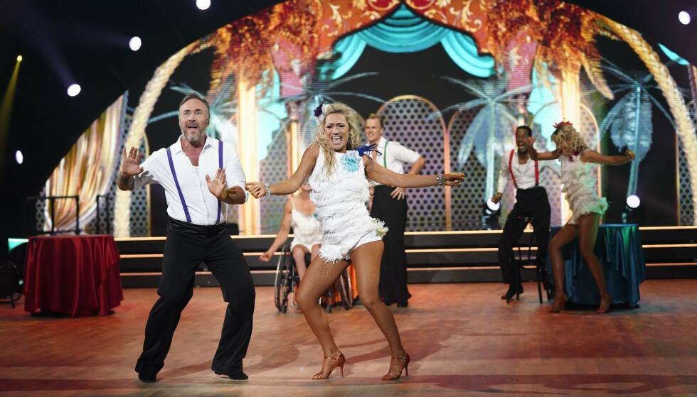IMPONERTE: Gruppedansen til Michael Andreassen, nate Kahungu og Birgit Skarstein gikk helt til topps hos dommerne.Foto: Espen Solli / TV 2