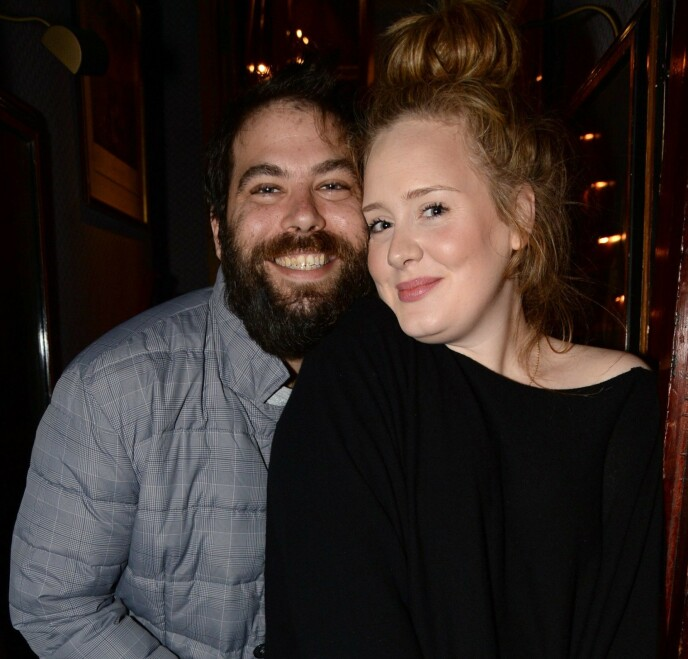 SKILT: I fjor kom nyheten om at Adele og Simon Konecki skulle gå hver til sitt. Foto: Richard Young / REX / NTB