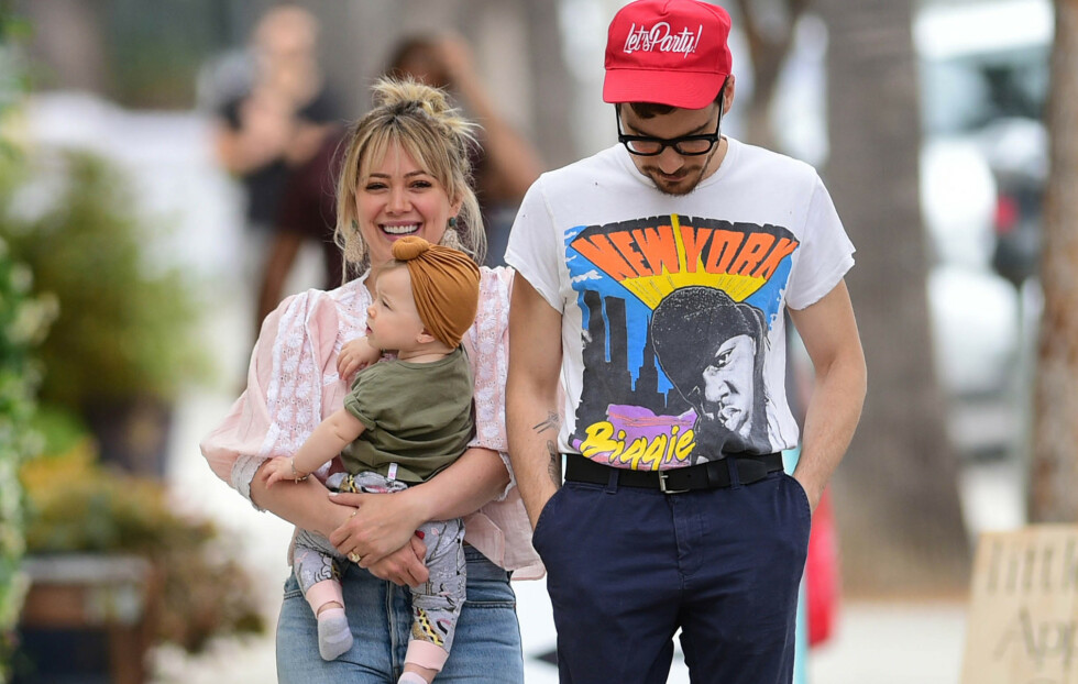 VENTER BARN: Hilary Duff og ektemannen Matthew Koma avslører at de venter barn. Foto: Pa Photos / NTB