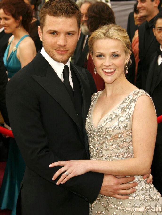 DEN GANG DA: Ryan og Reese var blant Hollywoods hotteste par i sin tid. Her sammen i 2006 - året de gikk hver til sitt. Foto: Peter Brooker/ REX/ NTB