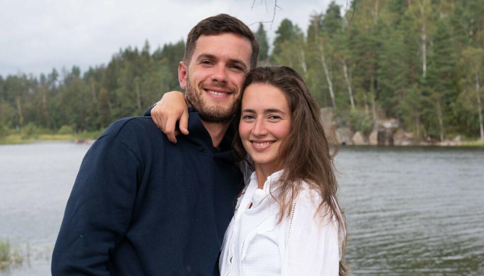 TAPTE: Esra Maloku og Arber Topallaj var blant parene som måtte dra tomhendt hjem fra «Sommerhytta». Nå er det imidlertid startet pengeinnsamling for kjæresteparet. Foto: TV 2