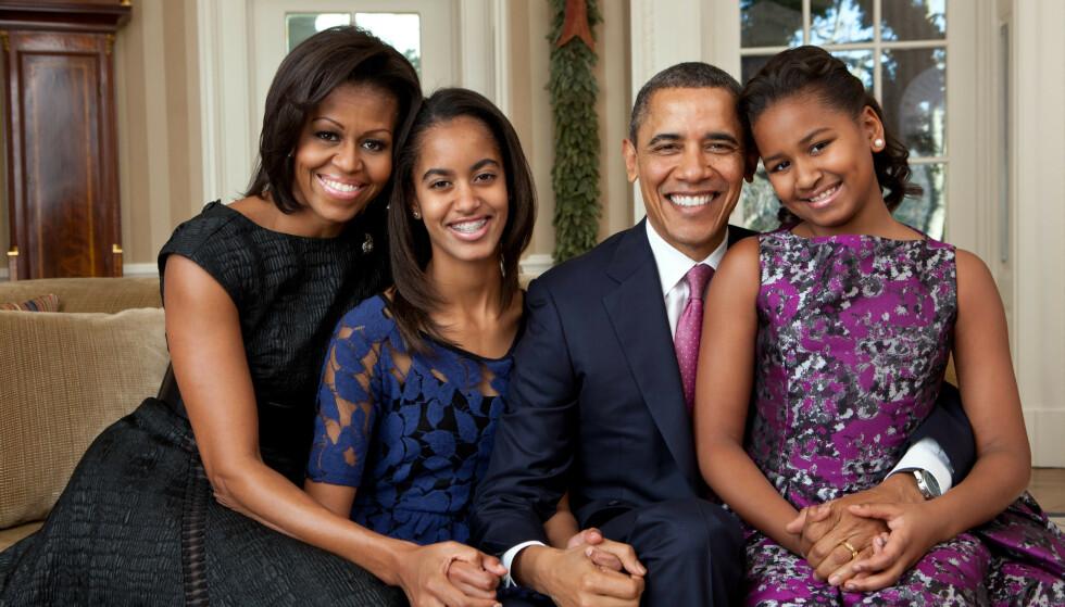 NY HVERDAG: Obama-familien var blant verdens mest offentlige familier da Barack var president i åtte år. Om Trump-familien følger i deres fotspor gjenstår å se. Foto: REX/Shutterstock/NTB
