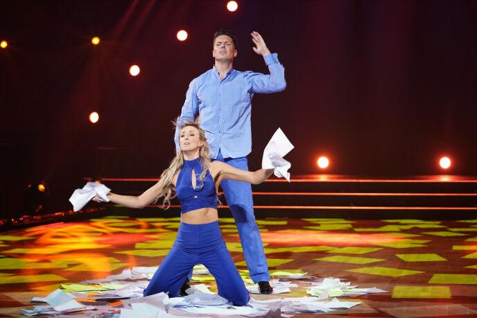 VAKKERT: Andreas og Mai leverte en vakker wienervals. Foto: Espen Solli / TV 2