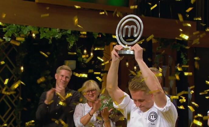 VANT: Det var Truls Torp Karlsen som stakk av med seieren i «Masterchef». Foto: Dplay / TVNorge