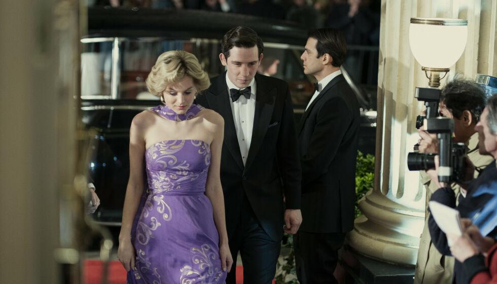 OMDISKUTERT: Netflix-serien «The Crown» omhandler livet til dronning Elizabeth (94) gjennom flere tiår. Søndag ble den fjerde sesongen sluppet, der blant annet ekteskapet mellom prinsesse Diana og prins Charles er et bredt tema. Foto: Ollie Upton/Netflix via AP/NTB