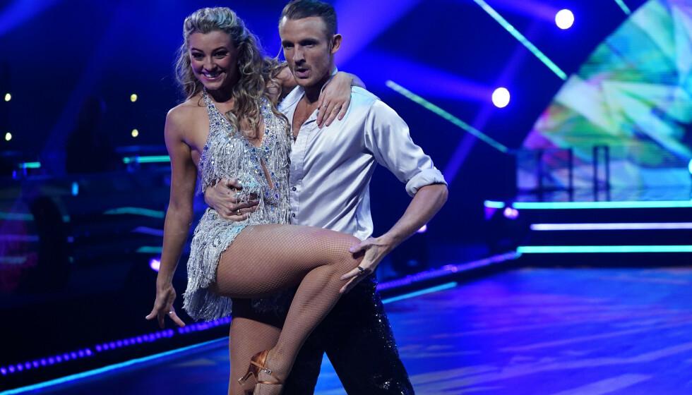 TREDJEPLASS: Marte Bratberg og dansepartneren Benjamin Jayakoddy kom på en tredjeplass. FOTO: Espen Solli / TV 2