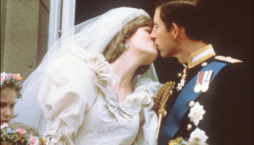 IKONISK: Prins Charles giftet seg med prinsesse Diana i 1981. Nå er ekteskapet hovedhandlingen i den fjerde sesongen av «The Crown». Foto: POOL / AFP / NTB