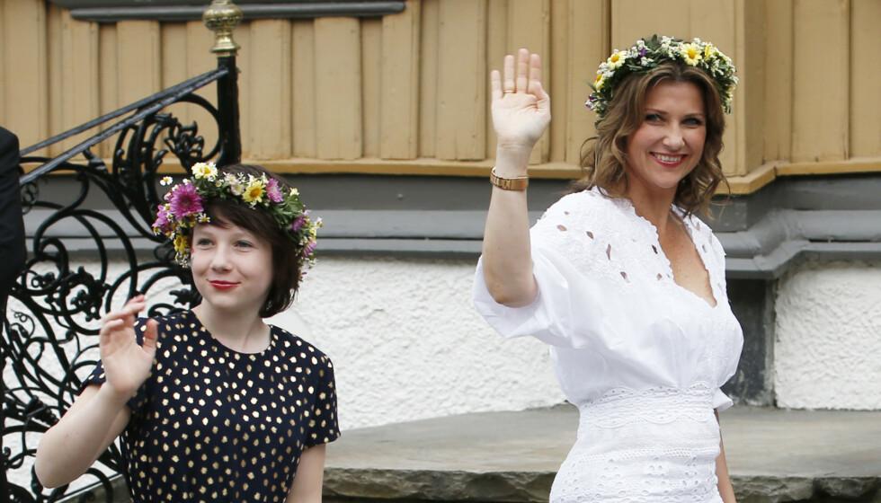 STOLT: Maud Angelica Behns bidrag for fokus på psykisk helse roses av mamma prinsesse Märtha Louise. Her sammen i 2016. Foto: Lise Åserud / NTB