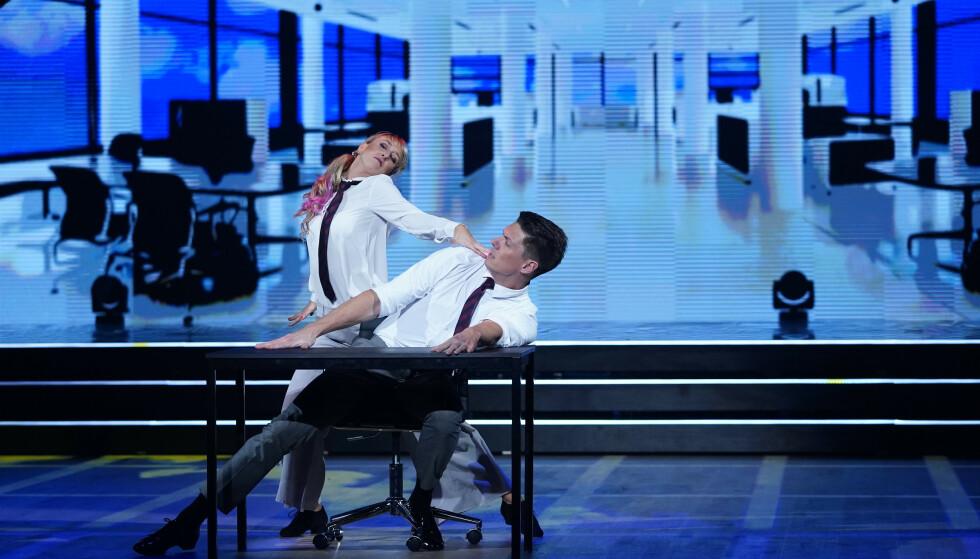 - HELT VANLIG: Mai Mentzoni sier det er helt normalt at de lar seg inspirere av andre danser i programmet. Foto: Espen Solli / TV 2