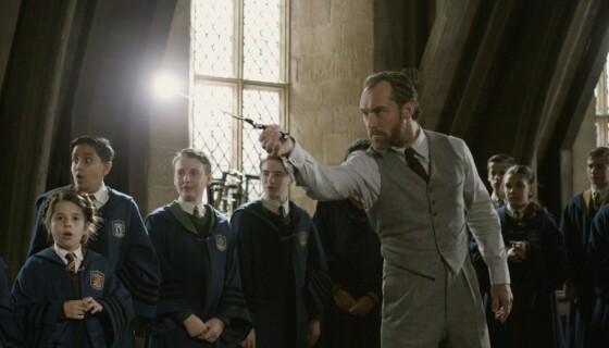 HUMLESNURR: Jude Law i rollen som Albus Humlesnurr. Foto: Warner Bros/Kobal/REX/NTB