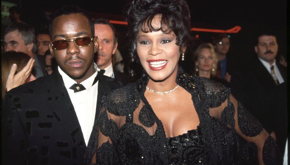 I SORG: Whitney Houston var gift med Bobby Brown frem til 2007. Sammen fikk de datteren Bobbi Kristina sammen. Hun døde et par år etter at Houston selv gikk bort. Nå har tragedien rammet familien nok en gang. Foto: Bei/REX , NTB