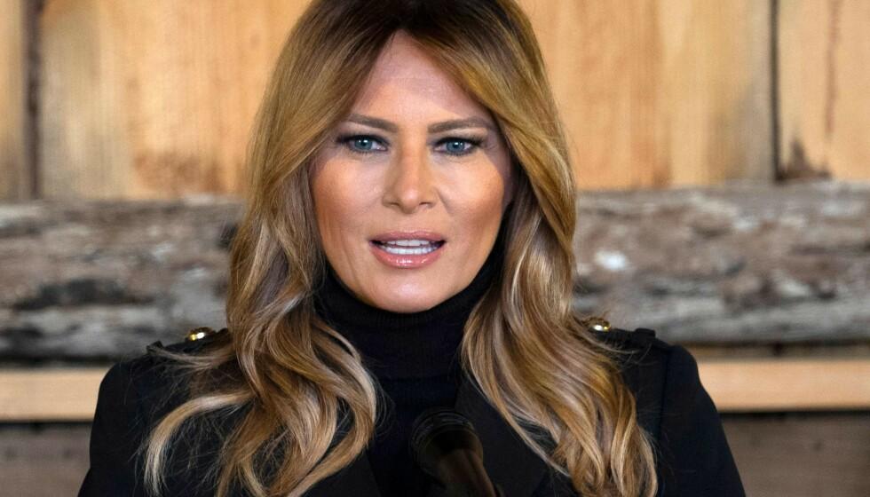 KONSPIRASJONER: Spekulasjonene om hva Melania Trump kommer til å gjøre når ektemannens presidentperiode er over, er mange. Foto: Andrew Caballero-Reynolds/ AFP/ NTB